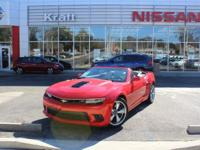 Red 2015 Chevrolet Camaro SS 2SS RWD 6-Speed Automatic