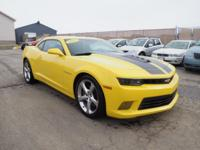 This 2015 Chevrolet Camaro SS boasts features like a