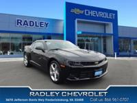 CARFAX One-Owner. Black 2015 Chevrolet Camaro SS RWD