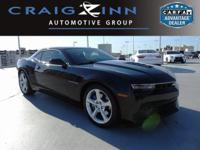 CARFAX One-Owner. Black 2015 Chevrolet Camaro SS 1SS