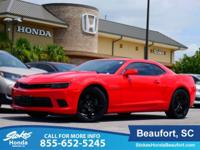 2015 Chevrolet Camaro in Red Hot and Navigation. You'll