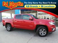 Low Mileage 2015 Chevrolet Colorado Z71 Red Rock