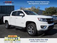This 2015 Chevrolet Colorado Z71 in White is well