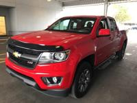 Certified. This 2015 Chevrolet Colorado in Red Hot
