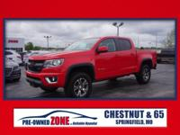 2015 Chevrolet Colorado Z71 in Red Hot with Jet Black