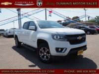 Summit White 2015 Chevrolet Colorado Z71 4WD 6-Speed