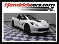 Options:  2015 Chevrolet Corvette 3Lt|Arctic White/Jet