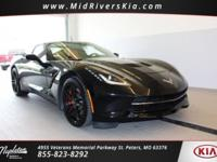 This 2015 Chevrolet Corvette in Black includes,