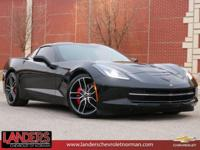 Clean CARFAX. Black 2015 Chevrolet Corvette Stingray