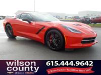 2015 Chevrolet Corvette Stingray Z51 6.2L V8 Torch Red