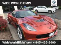 Clean CARFAX. Orange Metallic 2015 Chevrolet Corvette