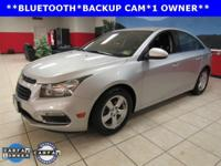 ONE OWNER, CLEAN CARFAX, BACKUP CAM, BLUETOOTH, Cruze
