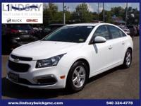 Options:  2015 Chevrolet Cruze 1Lt|White|Certified.
