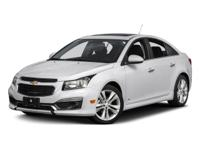 2015 Chevrolet Cruze 1LT. Turbocharged! Silver Bullet!
