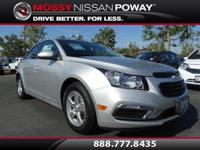 Carfax 1-Owner!. Cruze 1LT and Silver. Don't let the