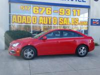 Options:  2015 Chevrolet Cruze Visit Adado Auto Sales