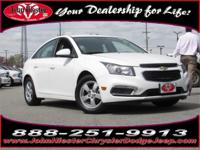 Options:  2015 Chevrolet Cruze 1Lt|White|Lifetime