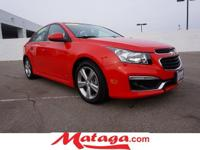 2015 Chevrolet Cruze 2LT in Red Hot with Jet Black