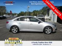 This 2015 Chevrolet Cruze 2LT in Silver is well