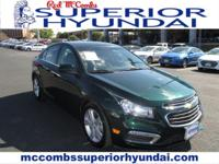 Safe and reliable, this Used 2015 Chevrolet Cruze LT