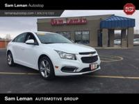 2015 Chevrolet Cruze 2LT in Summit White vehicle