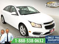 Recent Arrival!2015 Chevrolet Cruze White, Completely