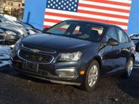 CARFAX One-Owner. Blue 2015 Chevrolet Cruze LS FWD