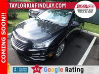 Low Miles, Bluetooth, Factory Warranty, Cruze LS,