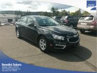 Black 2015 Chevrolet Cruze 1LT 4D Sedan FWD 6-Speed