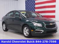 Here's a 2015 Chevrolet Cruze LT in rare Emerald Green!