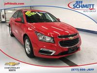 New Price! Certified. 2015 Red Hot Chevrolet Cruze FWD