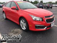 New Price! Recent Arrival! 2015 Chevrolet Cruze in Red,