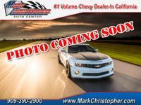 LTZ trim. Chevrolet Certified. EPA 38 MPG Hwy/26 MPG