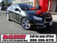 ONLY 28K Miles!! This 2015 Chevrolet Cruze comes with a