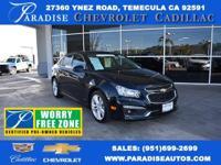PRIOR RENTAL. Cruze LTZ, GM Certified, 4D Sedan, ECOTEC
