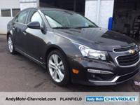 Chevrolet Cruze  Clean CARFAX.    38/26 Highway/City