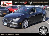 Options:  2015 Chevrolet Cruze 4Dr Sdn Ltz|Roof - Power