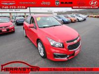 Cruze Chevrolet 38/26 Highway/City MPG ECOTEC 1.4L I4