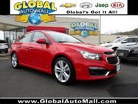 GM CERTIFIED !! This red hot Cruze LTZ has it all.