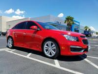 Come see this 2015 Chevrolet Cruze LTZ. Its Automatic