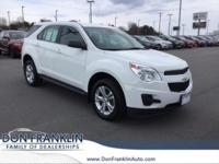 Clean CARFAX. Summit White 2015 Chevrolet Equinox LS
