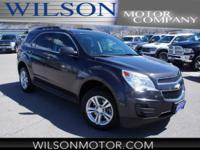 Clean CARFAX. Gray 2015 Chevrolet Equinox LT 1LT AWD