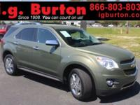 New Price! 2015 Chevrolet Equinox LTZ CARFAX One-Owner.