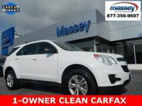 CARFAX One-Owner. Clean CARFAX. White Diamond Tricoat