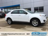 White 2015 Chevrolet Equinox LS CARFAX One-Owner.