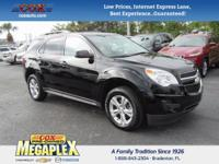 Certified. This 2015 Chevrolet Equinox LT in Black