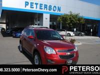 Our incredible 2015 Chevrolet Equinox 1LT shown in Red