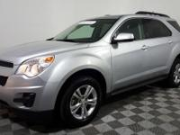 Certified. This 2015 Chevrolet Equinox in Silver Ice