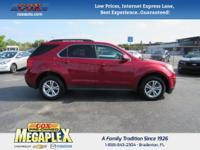 This 2015 Chevrolet Equinox LT in Crystal Red Tintcoat