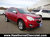 Clean CARFAX. Red 2015 Chevrolet Equinox LT 2LT FWD